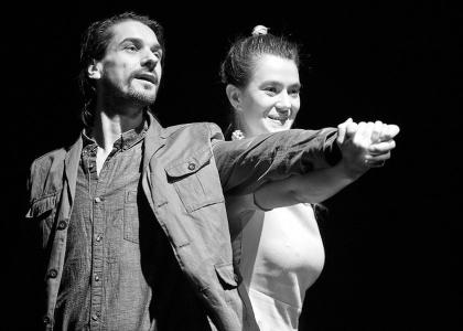 Kovács Krisztián (Zsadov) és Gergely Katalin (Polina). Dusa Gábor felvétele