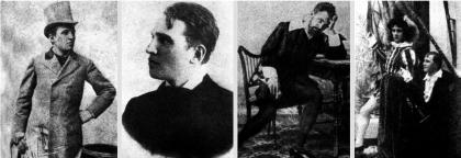 A színész és rendező Janovics Jenő:a kezdő színész 1895-ben; a kolozsvári rendező 1900-ban; Hamletként és Biberachként